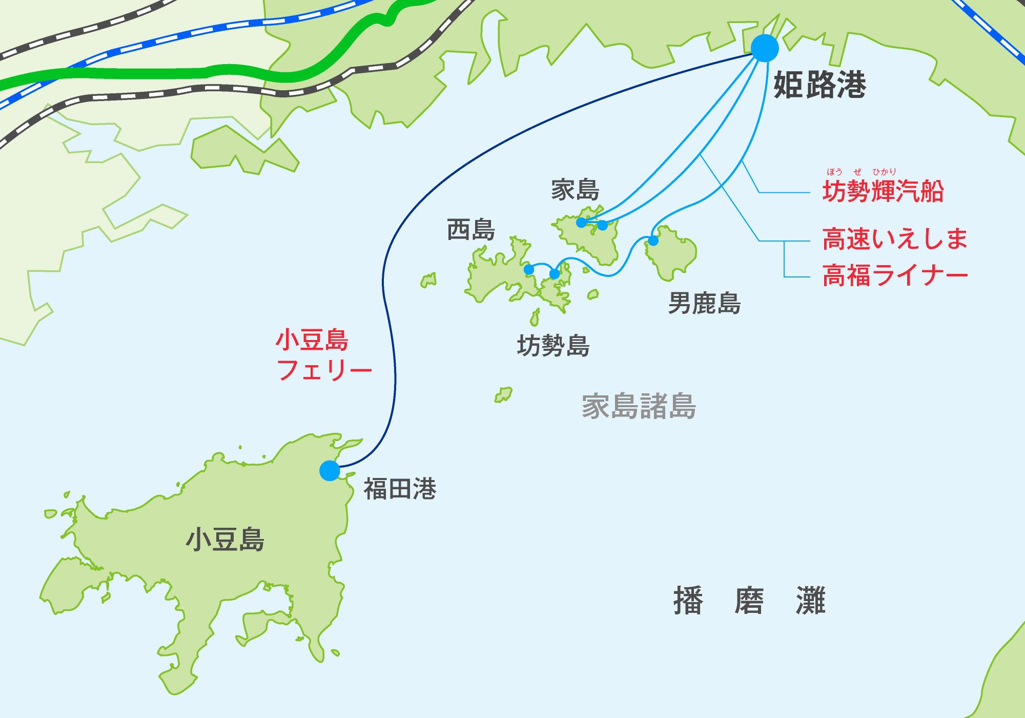 旅客船アクセス地図